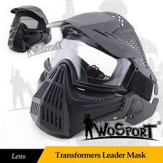 WoSporT Taktische Outdoor Objektiv Full Face Mask Atmungs CS Jagd  Militärarmee Airsoft Schutz Masken Paintball Zubehör 0c75c39dd5ce