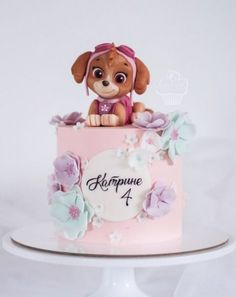 68 Ideas for birthday ideas party paw patrol Girls Paw Patrol Cake, Bolo Do Paw Patrol, Skye Paw Patrol Cake, Paw Patrol Birthday Girl, Sky Paw Patrol, Girl Paw Patrol Party, Baby Birthday Cakes, Puppy Birthday, Birthday Ideas