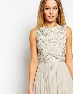 Image 3 ofNeedle & Thread Embellished Mesh Lace Maxi Dress
