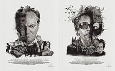 New Illustrated Posters of Famous Directors  German illustrators Julian Rentzsch and Stellavie Design Manufaktur come back with new movie directors portraits. This time they pay tribute to Quentin Tarantino Tim Burton and Stanley Kubrick through quotes characters and symbols showing their favorite themes.  I steal from every movie ever made.  If it can be written or thought it can be filmed.  Movies are like an expensive form of therapy for me.                        #xemtvhay