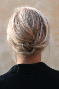 wish I knew how to do this. is it a french braid tucked under itself?