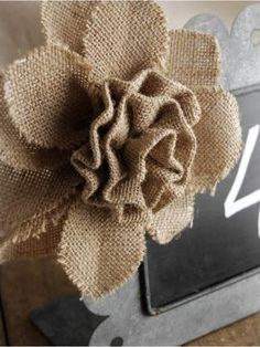 Sell 50 Pcs Big Burlap Roses