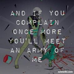 army of me meet you at the mouth lyrics