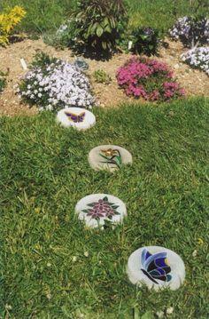 Mosaic Garden Art | view large photo of Stained Glass Mosaic Garden Art