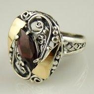 Inel argint si aur 9 k-10103 Aur, Silver Rings, Floral, Gold, Jewelry, Jewellery Making, Jewels, Florals, Jewlery