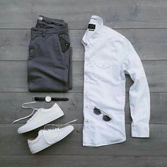 Men Casual Shirt Outfit 🖤 Very Attractive Casual Outfit Grid, Komplette Outfits, Casual Outfits, Men Casual, Fashion Outfits, Casual Shirt, Mens Fashion Blog, Daily Fashion, Men's Fashion, Street Fashion