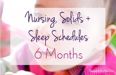Transitioning to solids threw my 6 month old's schedule for a loop. In this post I show you how we adjusted her schedule to get her back on-track and sleeping through the night again | iheartmomlife.com