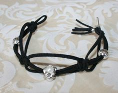 Lovely black bracelet with beads by HomiArticles on Etsy, $13.75