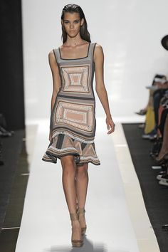 HERVE LEGER:: Square dimensions at Herve Leger. Credit: Getty @HuffPost Style