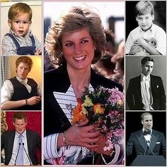 Princess Diana & Her Boys & Grand Kids