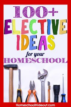 Looking for high school elective ideas for homeschoolers? From marine biology to history of rock and roll, this list has Homeschool Coop, Homeschool High School, Homeschool Curriculum, Online Homeschooling, Homeschool Supplies, High School History, High School Science, History Education, Teaching History