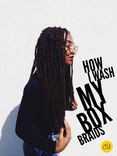 How I Wash My Box Braids