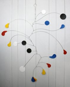 Fun Mobile Large Format - Great for Tall Ceilings - Kinetic Art Mobile Sculpture - Calder Inspired