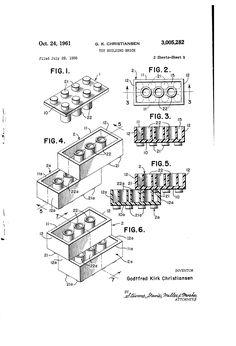Brevetto US3005282 - Toy building brick - Google Brevetti