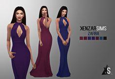 Zafira dress at Kenzar Sims via Sims 4 Updates