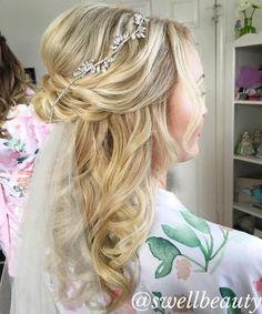 Wedding Blonde Half Up Half Down Hair