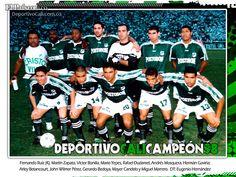 Deportivo Cali 100 Años - Campeon 1998 Jorge Ramirez, Centenario, Football Team, Mario, Christmas Sweaters, Soccer, Baseball Cards, Legends, Champs
