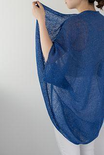 """""""Sakasama Jacket,"""" by Olga Buraya-Kefelian, knit in Shibui Pebble."""
