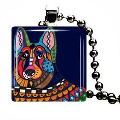 Jewelry Dog  Dog Charm German Shepherd Pendant by HeatherGallerArt, $28.00