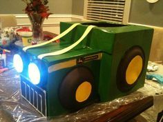 [diy] tractor costume ~ OK, so this is really something for hubby to try making.