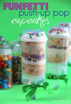 Funfetti Push-up pop cupcakes :)