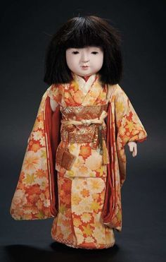 Japanese Paper Mache Doll with Very Fine Silk Costume and Accessories $400+ Auctions Online | Proxibid