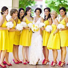 Yellow Prom Dress,Knee Length Prom Dress,Fashion Bridesmaid Dress,Sexy