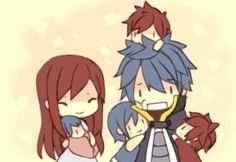 Jellal and Erza... With kids.... I can now die happy.....