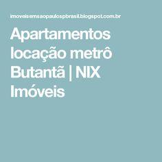 Apartamentos locação metrô Butantã | NIX Imóveis