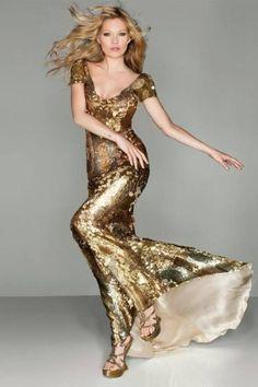 Alexander McQueen, Kate Moss for Vogue UK September 2012