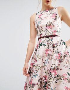 Ted Baker Blossom Jacquard Dress with V-Back
