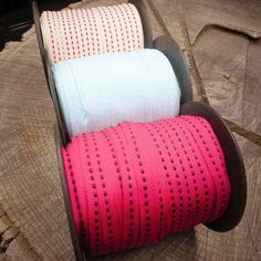 45 M of different coloured dash Ribbons (15 m in each roll)  #craft365.com