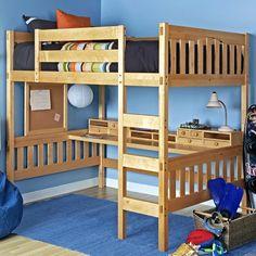 Epoch Design Gabriel Full Loft Bed Finish: Natural Beech, Media Cart: Without Media Cart