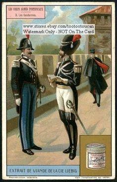 Vatican-City-Gendarms-Pope-Catholic-Rome-1917-Card