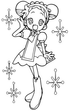 ojamajo doremi coloring pages - photo#21