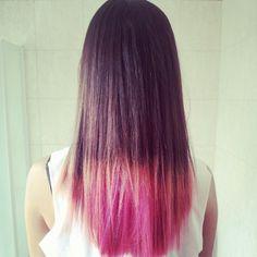 Pink dip-dye <3