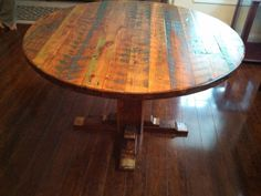 Table made from reclaimed wood, these people make amazing products.