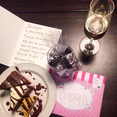 What a great birthday party #Europass had in #Finland: sweet cards, presents, cake and some sparkling wine! #Europass10Years