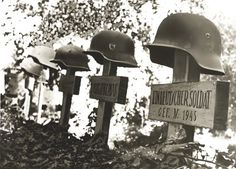 Graves of German soldiers.