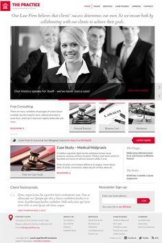 Professional legal firm and responsive premium #WordPress theme