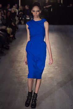 Must have: Greta Constantine Fall 2012 Beauty Magazine, Blue Lagoon, Jewel Tones, Runway, Dresses For Work, Style Inspiration, Trends, Knitting, Formal