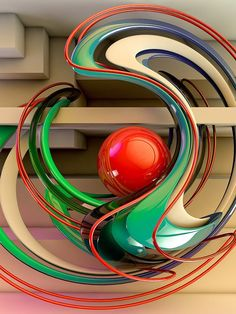 Abstract 3d Art by Paul Corfield