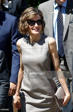 Spanish Queen Letizia arrives at the Grand Palais for a visit of the exhibition named 'Lumiere !' on June 4, 2015 in Paris, France. Felipe VI of Spain and Queen Letizia of Spain are on a three-day visit in France. Originally scheduled for March 24, this visit had to be suspended after Germanwings flight 9525 crashed in the French Alps.  (Photo by Chesnot/Getty Images)