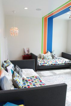 Home tour: Boys bedroom with stripes (paint colors)