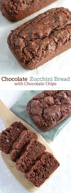 This is the best double chocolate zucchini bread. It's easy to make and turns out so moist. It's dairy free and there are options to make it vegan too.