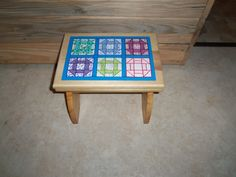 quilt stool, hand made by Karen