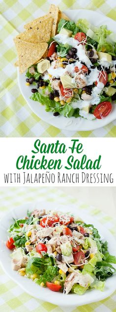 Does your salad bowl need a little inspiration? If so, you are going to love this Santa Fe Chicken Salad. Nevermind the salad part… the dressing is out of this world!