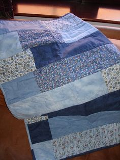 Bend the rules easy quilt  Something to do with all those old jeans
