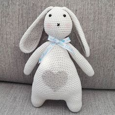 Lovely crocheted bunny :)  Pattern: http://www.ravelry.com/patterns/library/marin-2