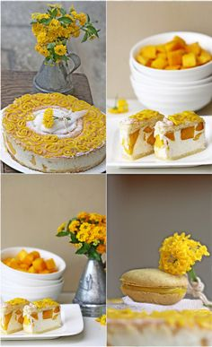 {Baking} MANGO VANILLA BAVARIAN CREAM CAKE ... and a FOOT for MacTweets! - Passionate About Baking